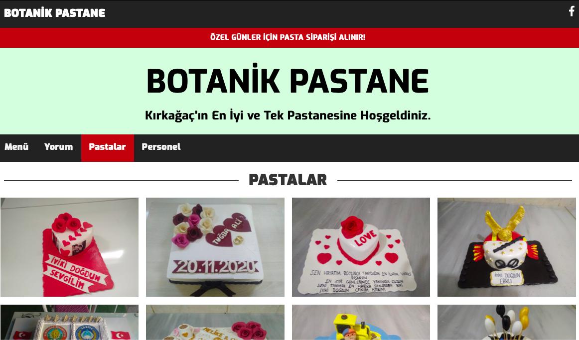 Manisa Kırkağaç Botanik Pastane Dijital Menü İçin Bizi Tercih Etti