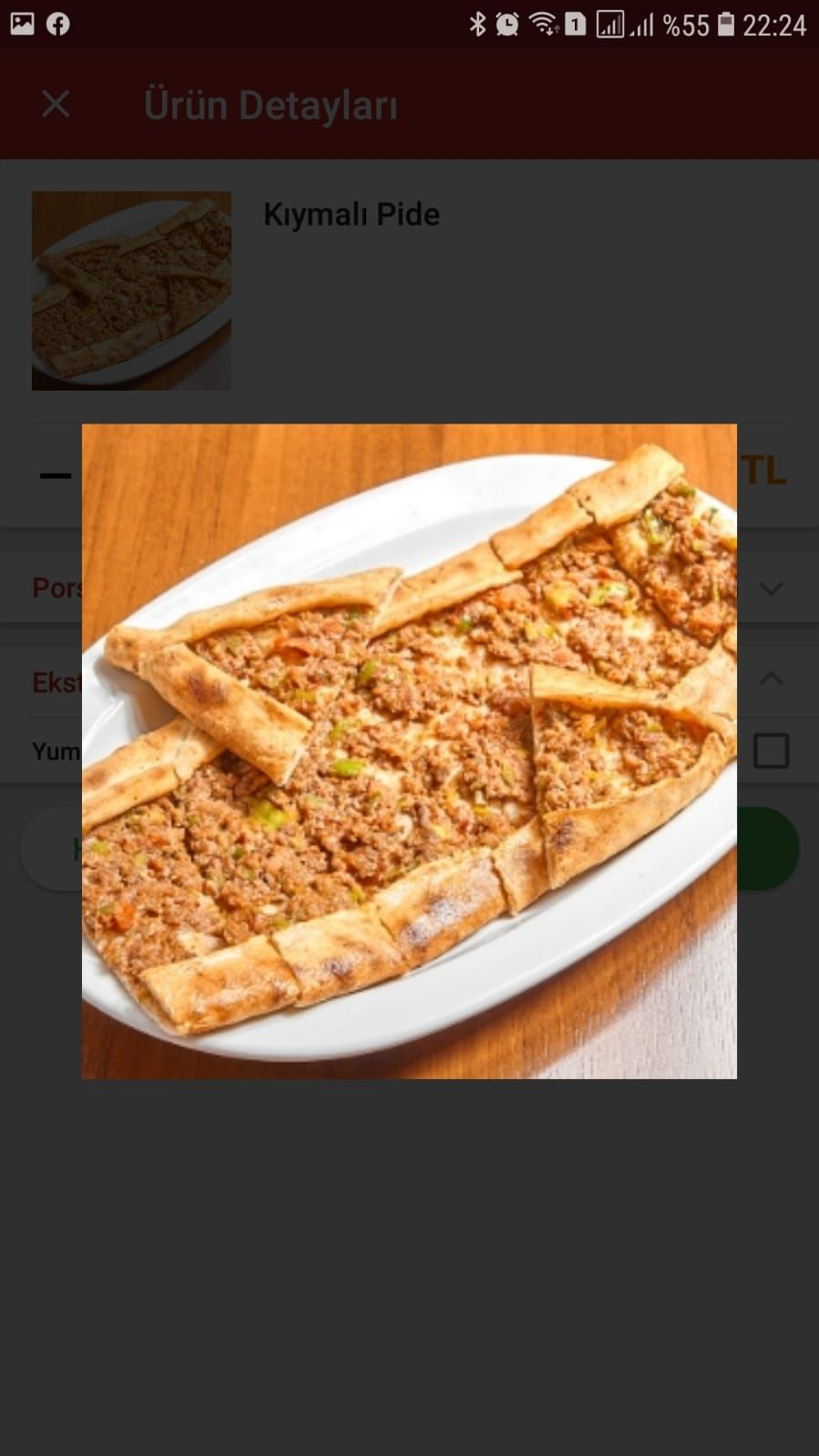 Kıymalı Pide + Salata