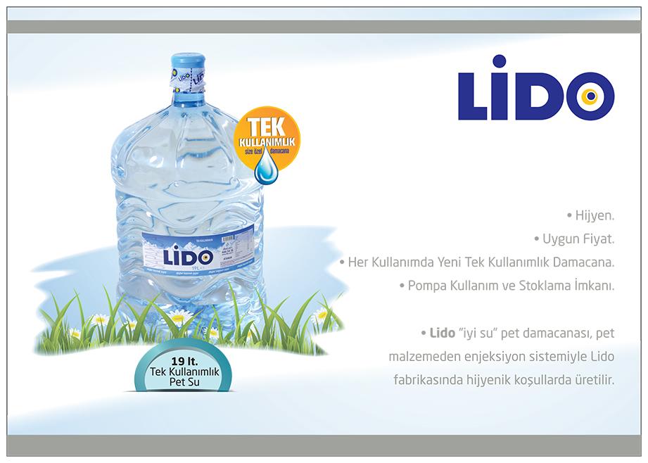 LİDO SU 19 lt. Tek Kullanımlı Pet Su