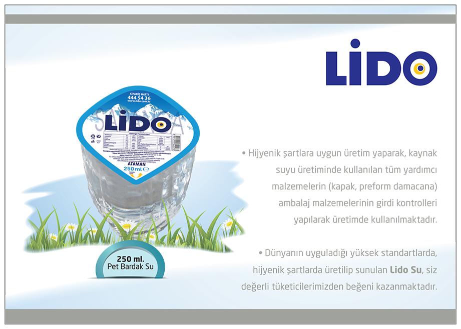 LİDO SU 250 ml. Pet Bardak Su (60 adet)