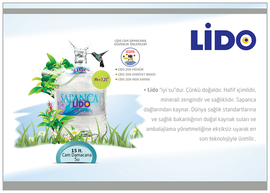 LİDO SU | 15 lt. Recycled Glass Carboy Water
